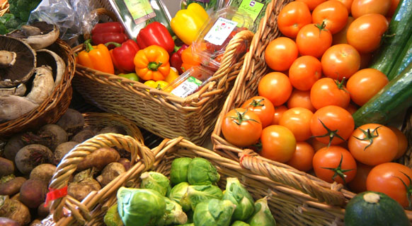 Photograph of some of our lovely fresh  and vegetables at Fenton Barns Farm Shop