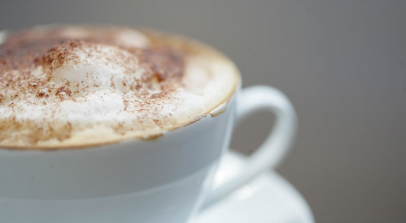 Photograph of coffee served at >